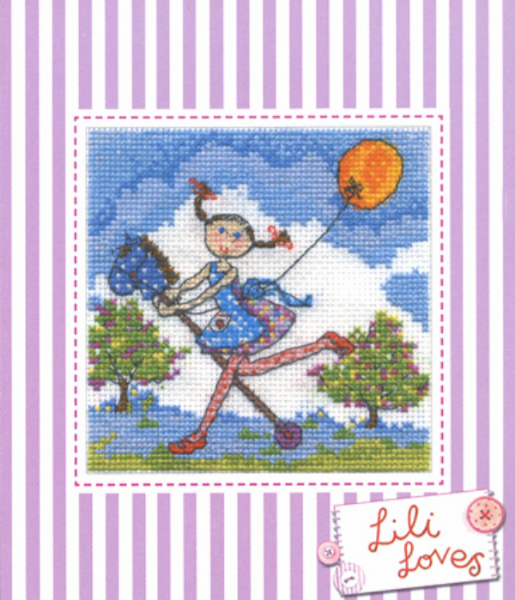 Lili Loves Adventures Cross Stitch Kit